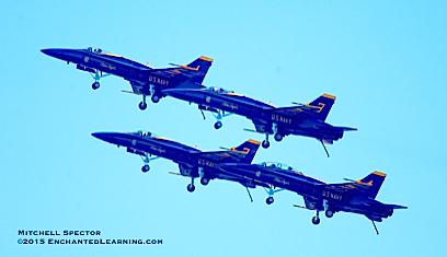 Four Blue Angels Climbing