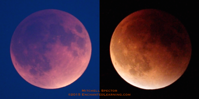 Two Views of Totality: The Colorful Lunar Eclipse of September 28, 2015