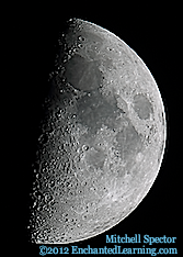 Moon Just Past First Quarter, 55% Illuminated