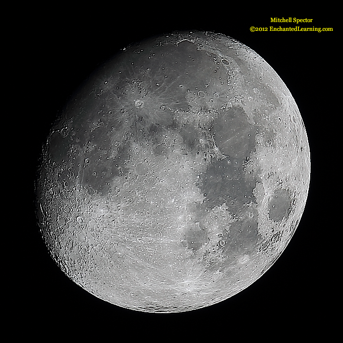 Waxing Gibbous Moon, 90% Illuminated