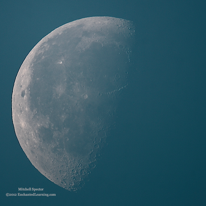 Waning Gibbous Moon in the Morning Light
