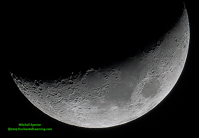 Waxing Crescent Moon, 33% Illuminated