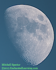 Waxing Gibbous Moon in the Daylight, 69% Illuminated