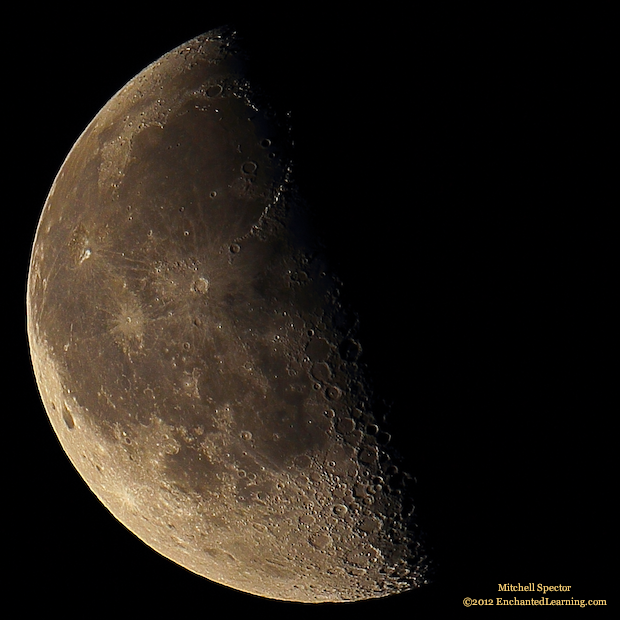 Nearly Third-Quarter Moon