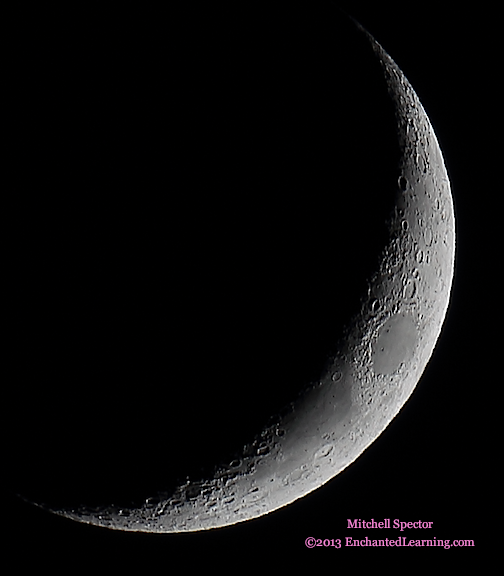 Waxing Crescent Moon, 15.4% Illuminated