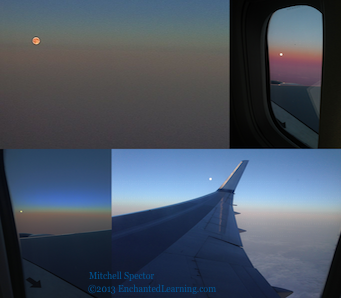 Supermoon Montage from the Air