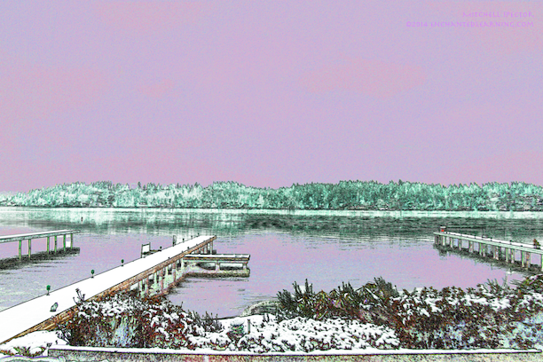 Snow at Lake Washington
