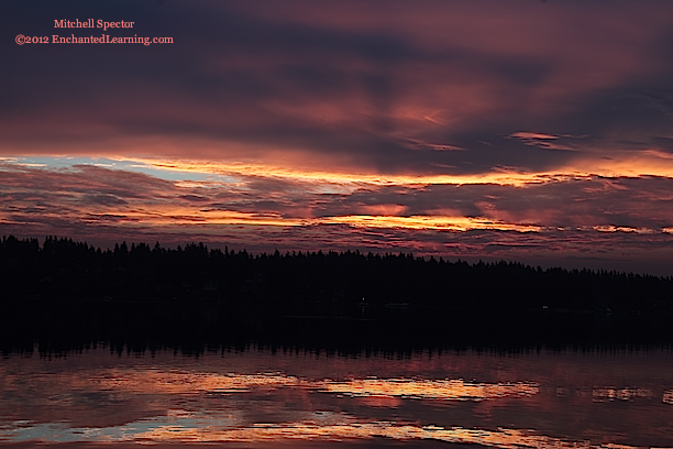 Sunrise Reflected in Lake Washington, 3 of 6