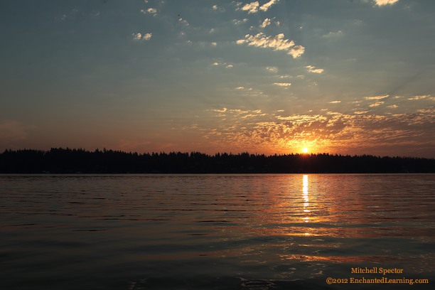 Sunrise over Lake Washington, 8 of 8