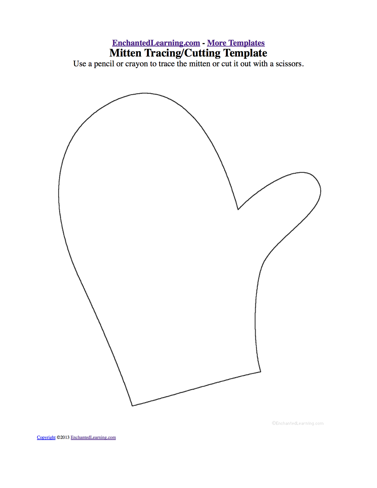picture about Printable Mitten identified as The Mitten -